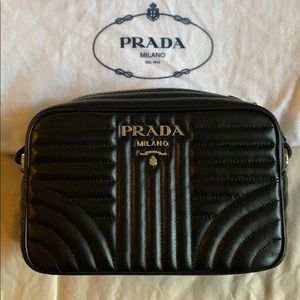 Leather Prada Diagramme Bag